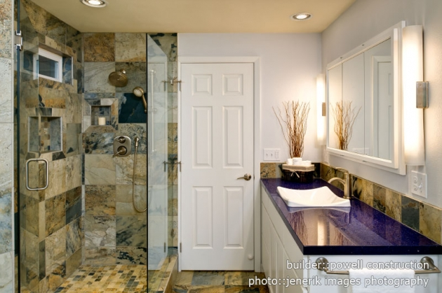 Master bath with Pental Terazzo Trend Q countertops