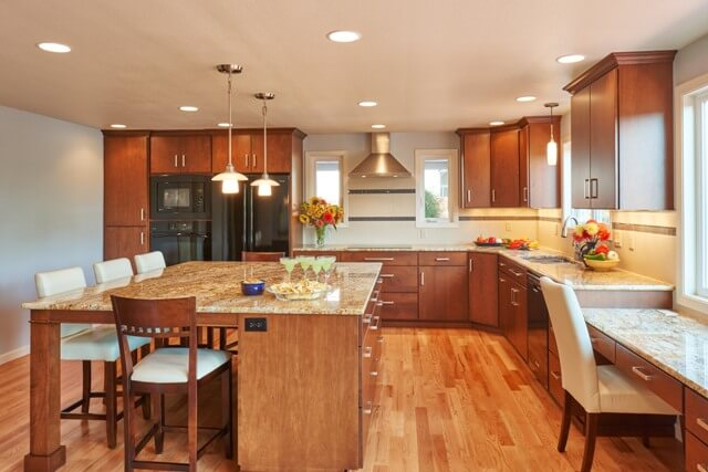 This kitchen renovation created an open, spacious feeling without additional square footage..