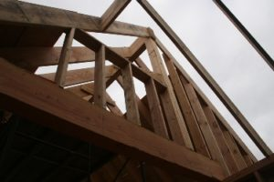 Roof framing.