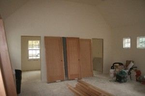 The master suite. Trim and interior doors are waiting to be installed!