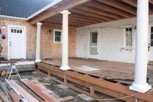 Progress on the porch