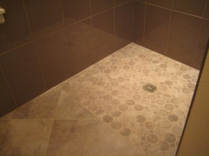 Detail of Shower, Floor and Wall Tile