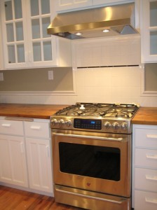 New Stainless Steel Appliances and Tile Backsplash