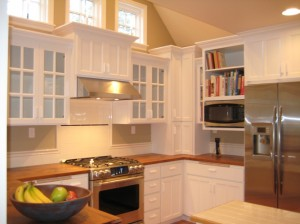 New Painted Cabinets and Wood Countertops