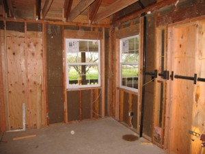 Master suite bathroom windows