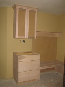 Back entry cabinets