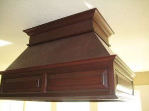 Custom built range hood
