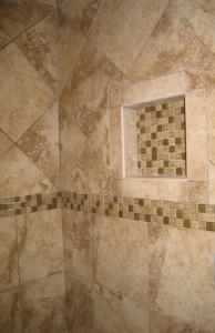 Master bath shower niche