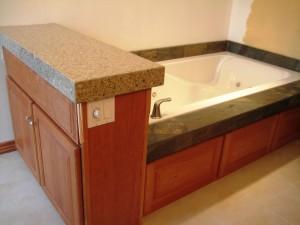 Tile on the tub!