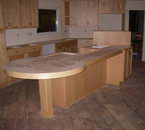 Island Cabinet with Eating Bar Support