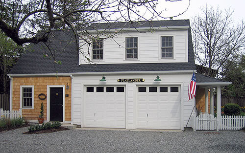 A shop makes a practical addition to this Cape Cod garage in Corvallis