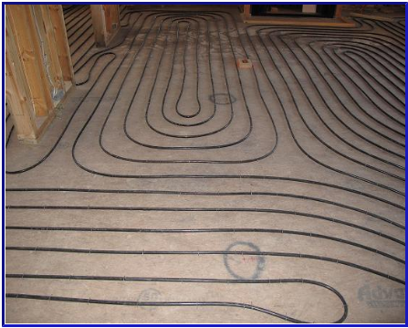 Heat Tubing Can Also Be Installed Within A Plywood Underlayment System Over An Existing Concrete Slab Alternatively Ultra Thin Electric Heating Mats Are