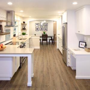 Photo of actual newly remodeled kitchen