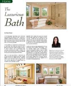 Article on The Luxurious Bath | Willamette Living Magazine Oct/Nov 2014
