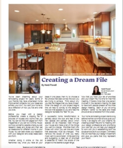 Creating a Dream File prior to starting a remodel | Willamette Living Magazine Feb/March 2016