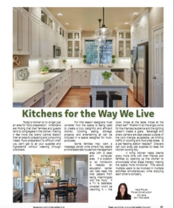 Kitchens for the Way We Live as seen in | Willamette Living Magazine Dec/Jan 2016