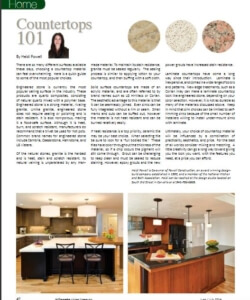 Heidi Powell article about kitchen Countertops 101 | Willamette Living Magazine June/July 2014