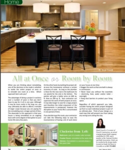 Article on whether to renovate All at Once or Room by Room | Willamette Living Magazine Feb/March 2015