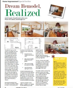 Article on a Dream Remodel Realized | Willamette Living Magazine April/May 2013