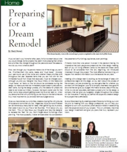 How to prepare for your Dream Remodel | Willamette Living Magazine Dec/Jan 2014