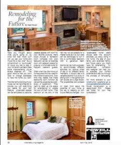 Remodeling for the Future article by Heidi Powell | Willamette Living Magazine April/May 2016