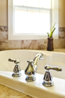 Attention to design details give the remodeled master bath an aura of luxury.