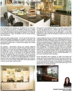 Kitchen Design article | Willamette Living Magazine Dec/Jan 2017