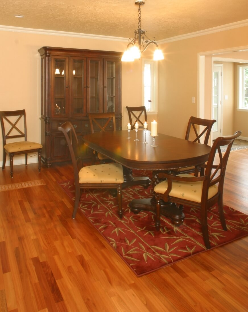 A lovely dining area with room for the family to gather