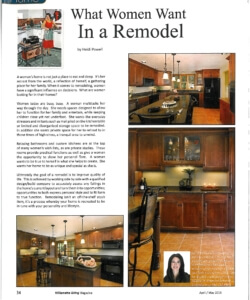 Article describing the top qualities women look for when remodeling their homes | Willamette Living Magazine April/May 2015 Want in a Remodel | Willamette Living Magazine April/May 2015