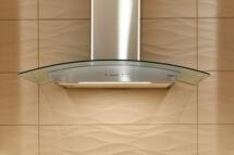 The Zephyr Ravenna hood makes a dramatic design statement.