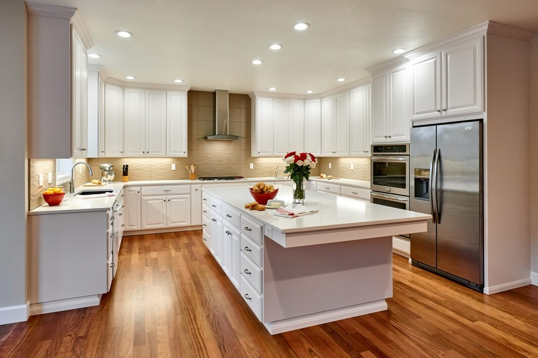This design-build kitchen remodel has room for multiple cooks, as well as guests at the end of the island.
