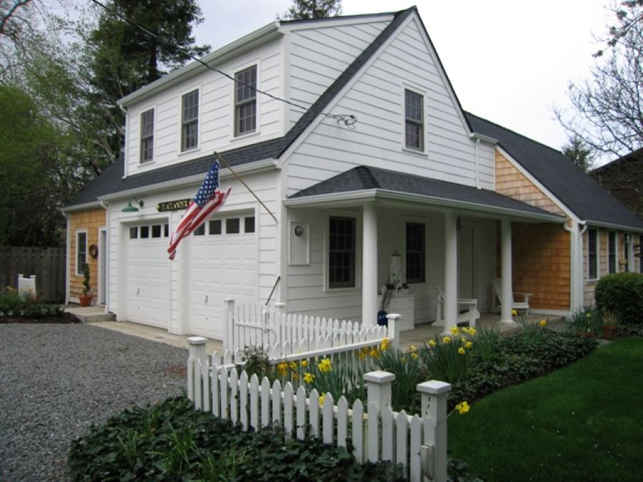 Remodel of garage and shop, styled to look like a Cape Cod cottage in Corvallis, OR