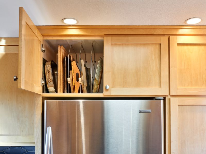 Over refrigerator storage for practical use of space